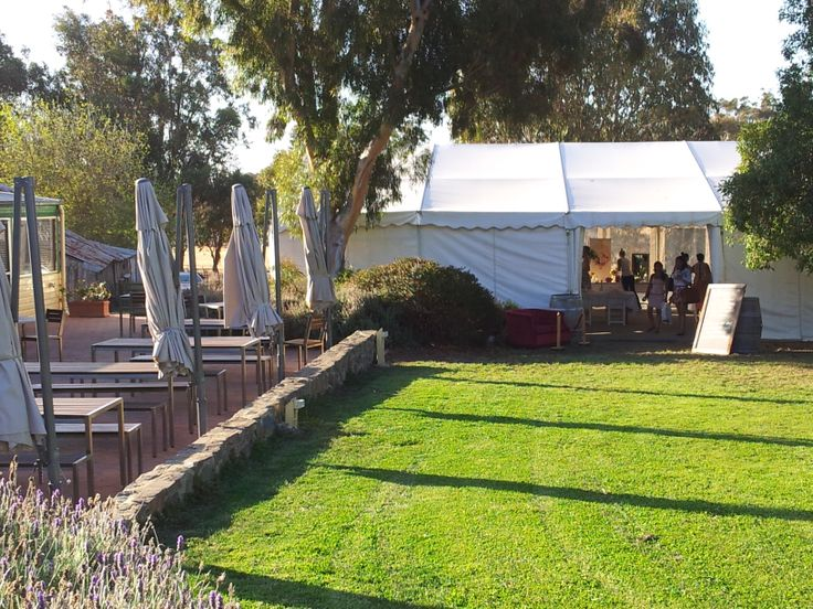 Looking towards the marquee.