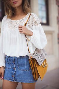 ZARA WHITE PUFFED SLEEVE COMBINED LACE BLOUSE BOHO HIPPIE TOP SHIRT SONGS OF STYLE