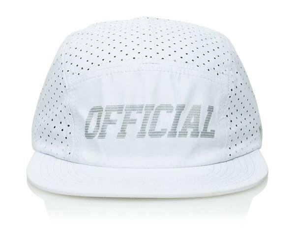 Official Cap Aero White 5 Panel Perforated Strapback Skateboard Hat OSFM | snapchat @ http://ift.tt/2izonFx