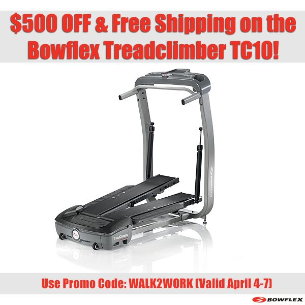 Bowflex Treadclimber Sale: Great Sale On The Bowflex Treadclimber TC10!! Don't Forget