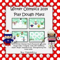 Winter Olympics Play Dough Mats