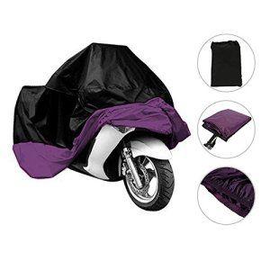 Besmall Bâche MOTO velo Housse de protection Étanche anti-poussière anti-UV pour Moto Couleur Violet/noir Taille XL: Black Friday,Cyber…