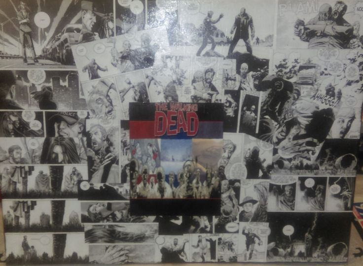 """Custom Walking Dead Image Comic Decoupage Canvas art 18"""" X 24"""" - Many other sizes available by OpiosComiccreations on Etsy"""