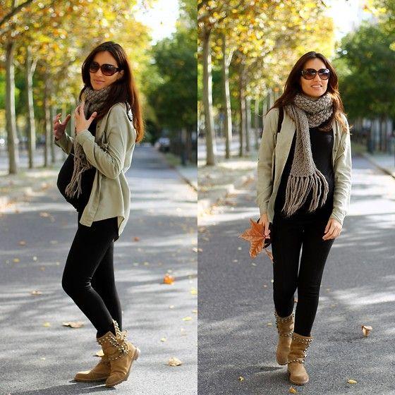 Zara Shirt, Zara Leggings, Zara Boots, Mango Sunglasses Pregnancy Fashion