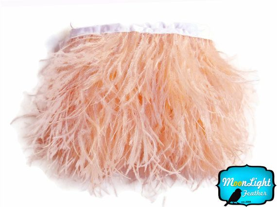 Champagne Ostrich Feathers, 1 Yard - CHAMPAGNE Ostrich Fringe Trim feather : 2105. Etsy. Moonlight Feather
