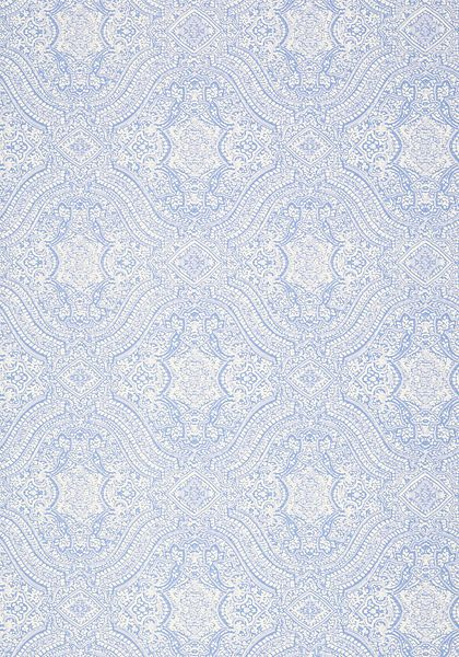 Tulsi block print light blue t64164 collection caravan for Wallpaper samples
