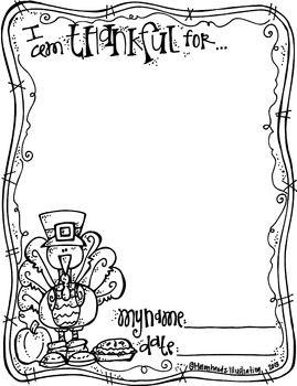 "FREEBIE:  ""I am thankful for...""  {from Melonheadz}"