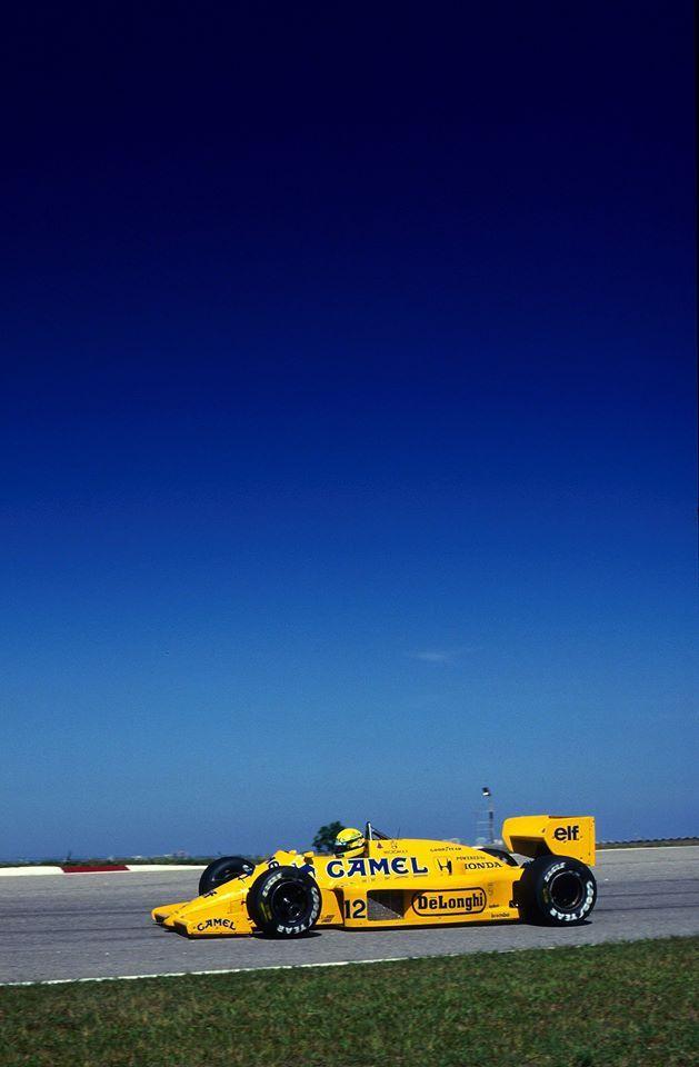 Ayrton Senna (Lotus-Honda) Grand Prix du Brésil - Jacarepaguá - (1987) - Formula 1 HIGH RES photos (Old and New) Facebook