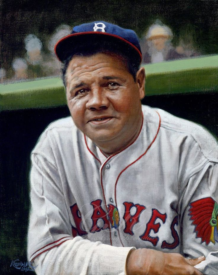 In his last year as a player, and back in Boston. The Babe would be gone 13 years later. Unbelievably awesome art work!!!! From an  Amazing Artist: Graig Kreindler