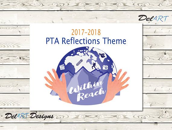 PTA Reflections, 2017-2018 Theme, Within Reach, Digital file, Ready to print PDF, 8.5x11 inch and 11x14 inch PDFs In charge of PTA Reflections this year? Ive done the work for you of making a poster with this years (2016-2017) theme. You get ready-to-print PDF files in both 8.5 x 11 inch and 11 x 14 inch. You may use this for your school or PTA use, please do not pass file on to any other school or district, feel free to refer any one interested to me. Thanks. Please contact me with any q...