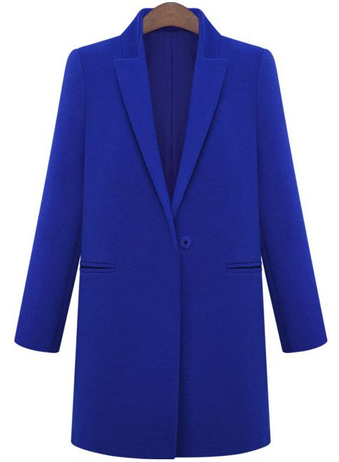Shop Blue Lapel Long Sleeve Loose Woolen Coat online. Sheinside offers Blue Lapel Long Sleeve Loose Woolen Coat & more to fit your fashionable needs. Free Shipping Worldwide!