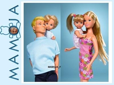 STEFFI LOVE lalka Z RODZINĄ 4 LALKI SIMBA XXL MJ