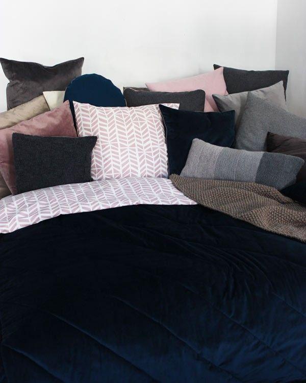 Velour og bomuld til seng sofa.