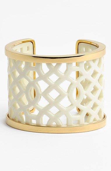 Tory Burch 'Chantal' Latticework Cuff available at #Nordstrom