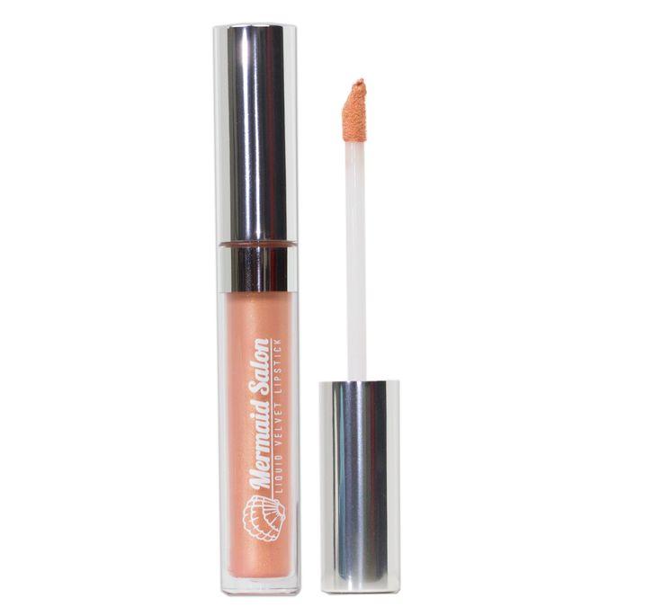 Mermaid Salon — PEACH FIZZY METALLIC - liquid Velvet Lipstick
