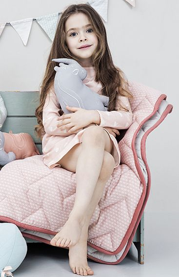 Babydeken Quilt - Sashiko Blush