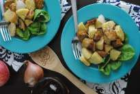Chicken and Apple Baked Polenta- a 30-minute recipe.