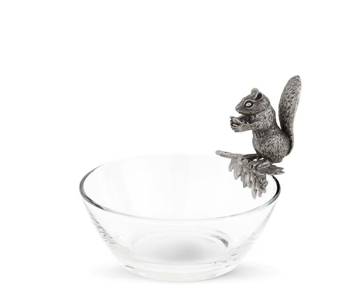 Candies and Chololate Snack Bowl for Home Kitchen Table Office Desk Christmas Gift Pistachios ComSaf Ceramic Nut Bowl with Standing Squirrel Snack Serving Dish for Walnuts Peanuts