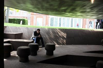 Underneath Ai Weiwei's Serpentine Gallery Pavilion.