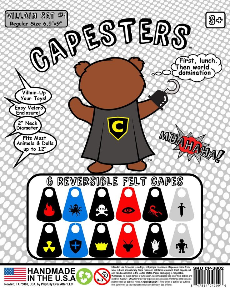 17 Best images about Capesters Doll and Stuffed Animal Capes on ...