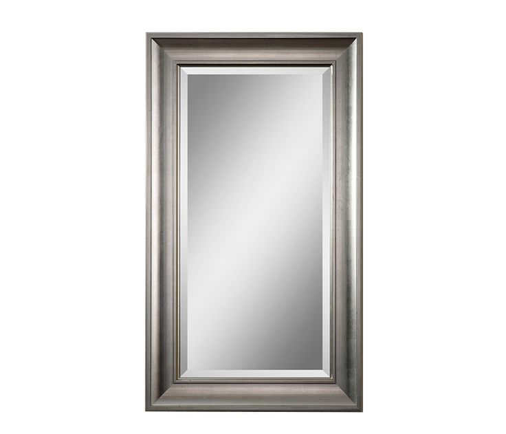 Wood Frame Mirror - Stocked in an antiqued silver leaf finish. May be hung either horizontal or vertical. Limited quantities, including