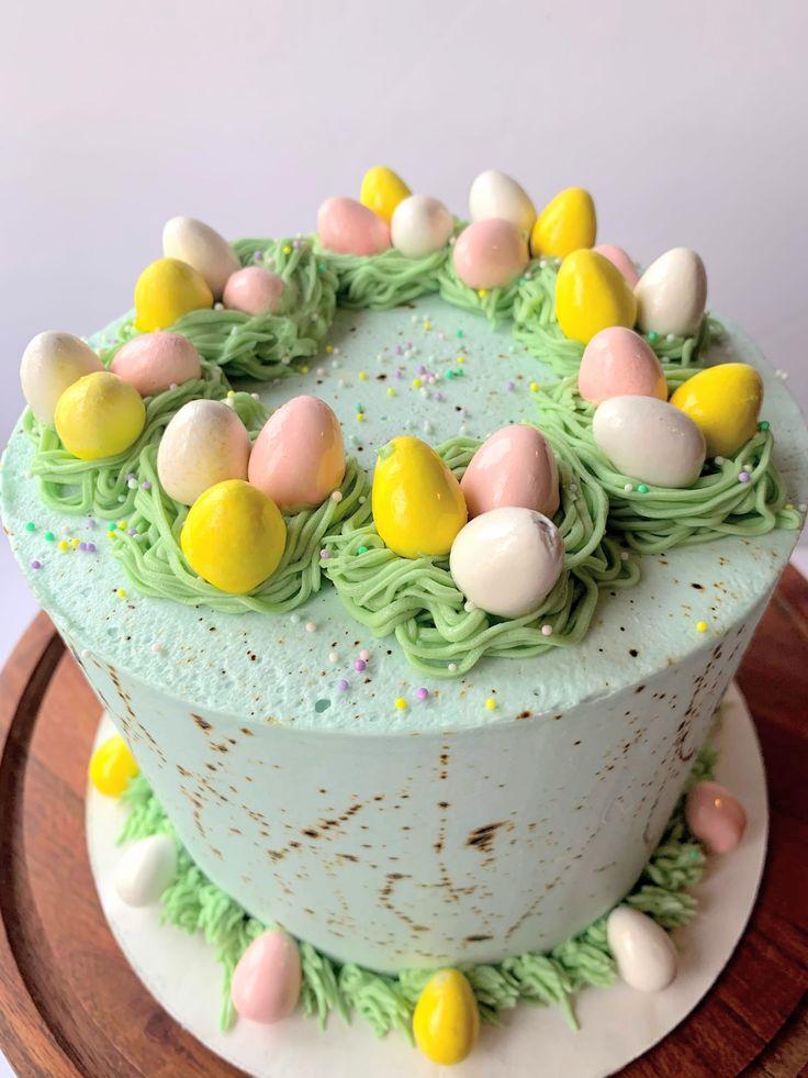 Easter cake easter cakes easter egg nest cake splatter