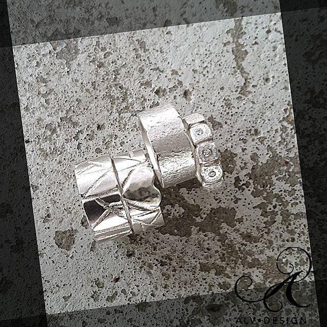 Alv Design handgjorda silverringar. Design och arbete: Anneli och Kenneth Lindström,  Alv Design. www.alvdesign.se