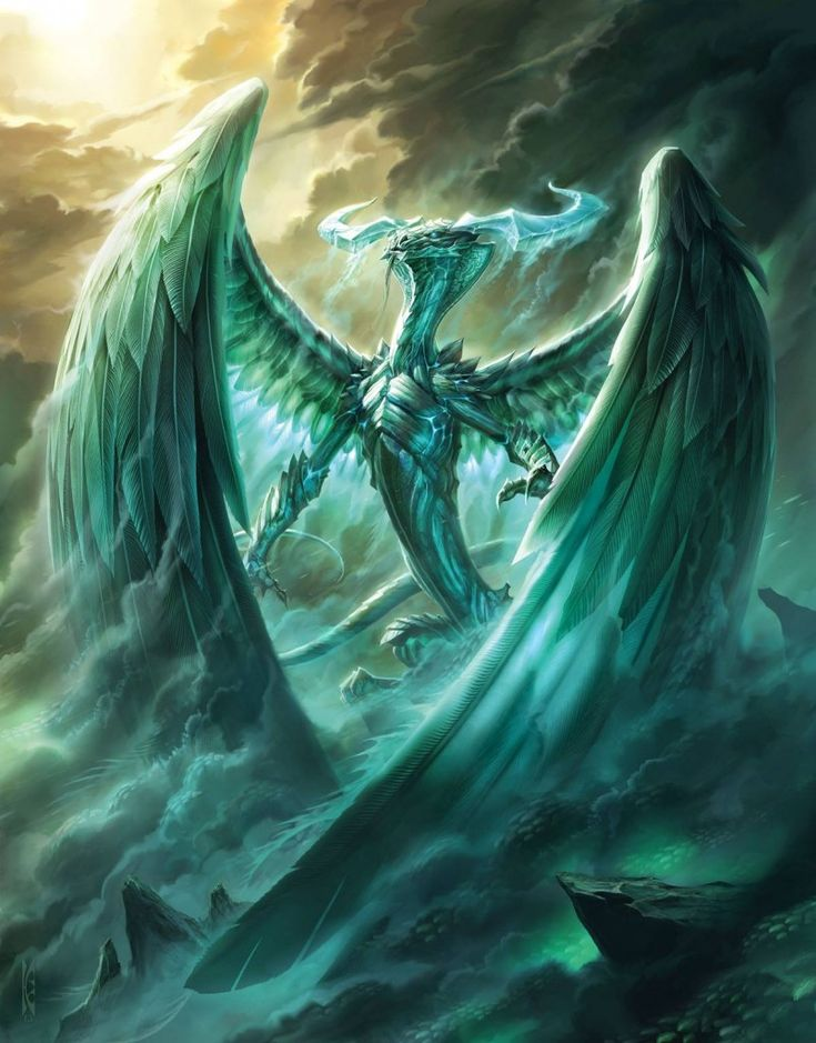 Ugin, the Spirit Dragon (Raymond Swanland). Magic: The ...