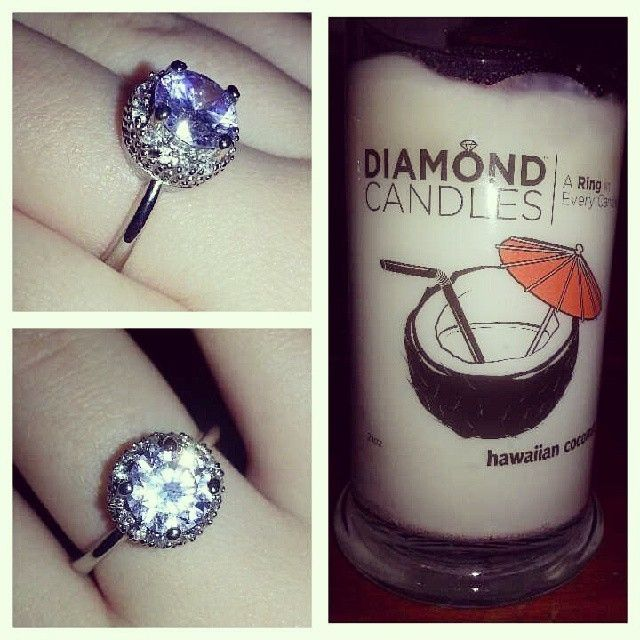 Candle #2 much more of a success ♥ #diamondcandles