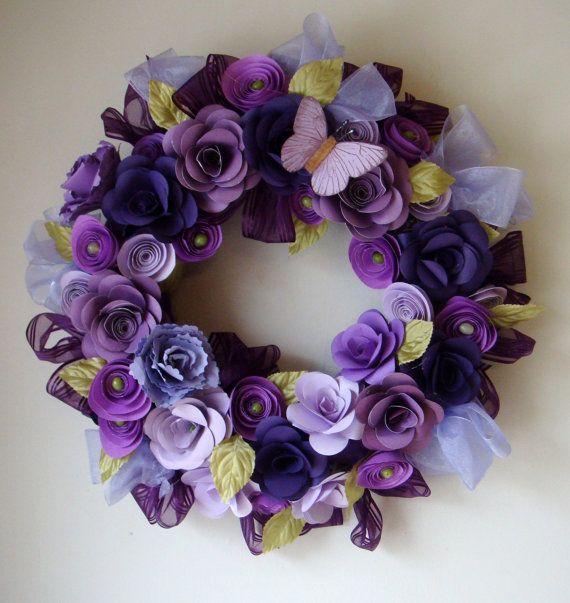 Pretty paper flower wreath!