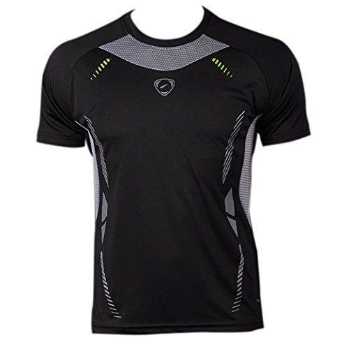 jeansian Herren Sportswear Quick Dry Short Sleeve T-Shirt LSL3225 Black L…