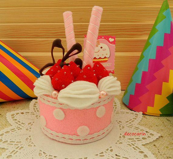 Felt Food Felt Cake Felt Home Children Party Decor Ornament
