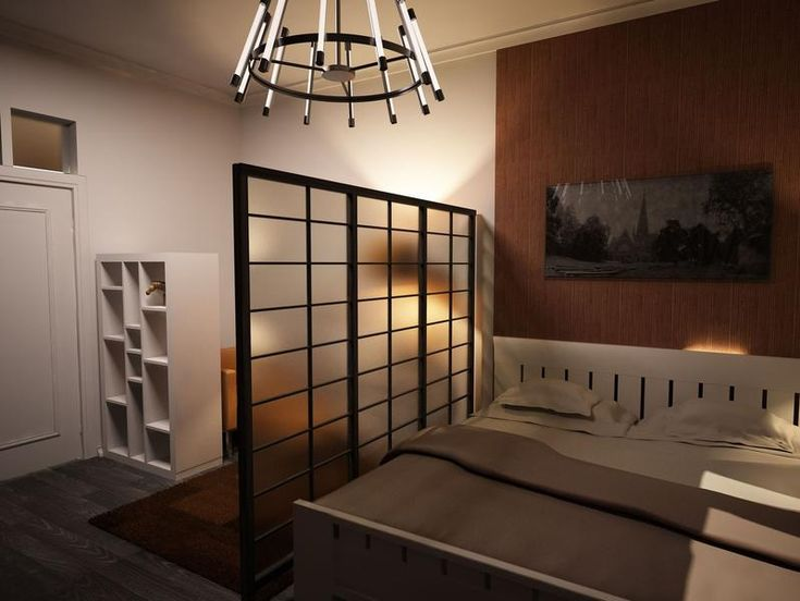 Japanese style studio apartment interiors note the use of for Design apartment in prague 6