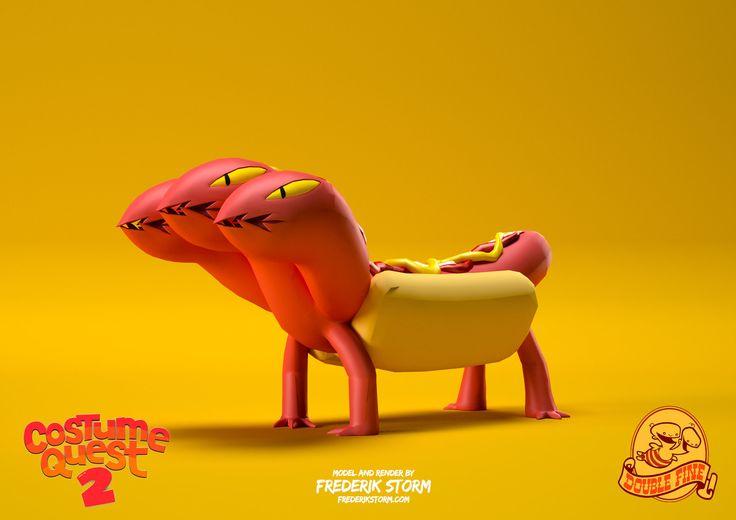 ArtStation - Hot Dog - Costume Quest 2, Frederik Storm