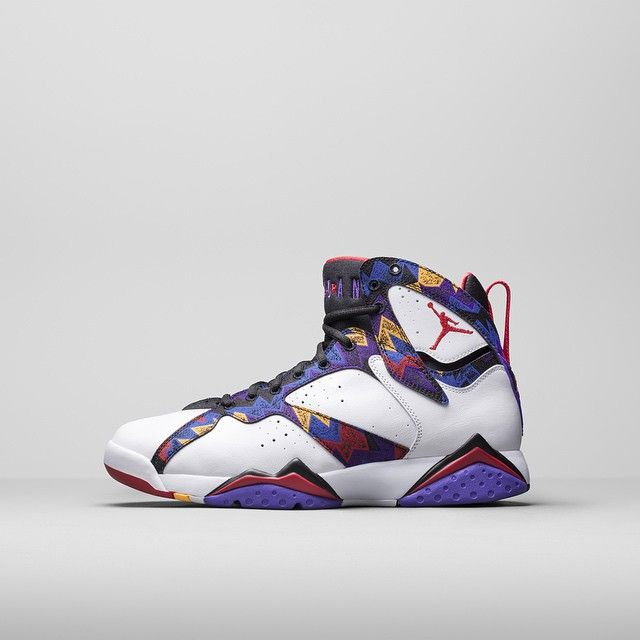 AIR JORDAN VII Inspired by Jordan's vibrant printed sweater and shorts he  wore on camera in an iconic commercial, this Air Jordan VII features  colorful hues ...