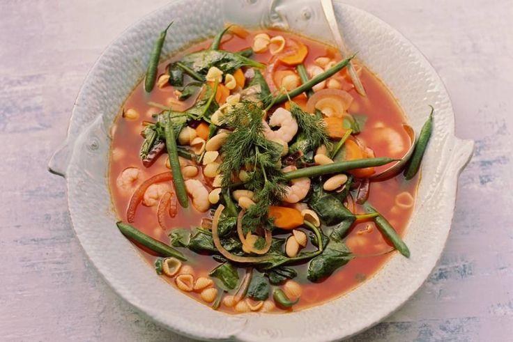 Minestrone met garnalen - Recept - Allerhande