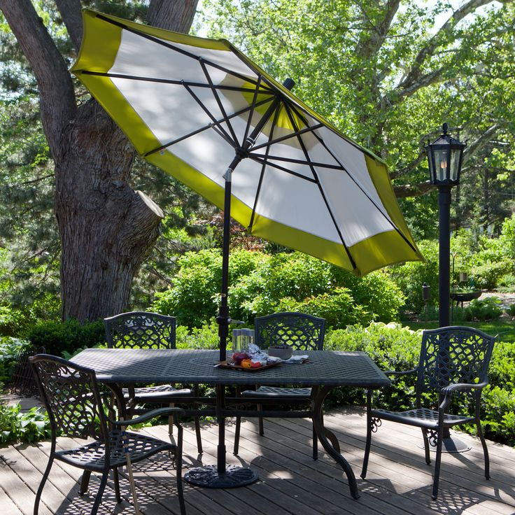 Deluxe Designer Auto Tilt Patio Umbrellas   Patio Umbrellas At Hayneedle