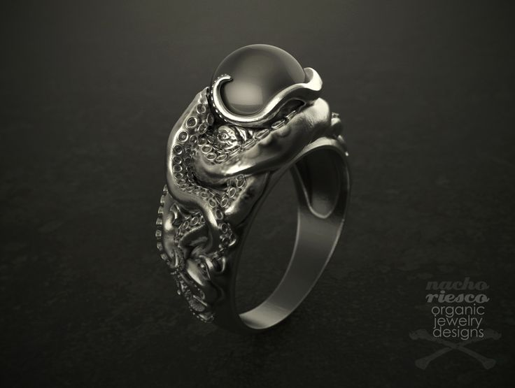 Black Pearl Oxidized Silver Ring