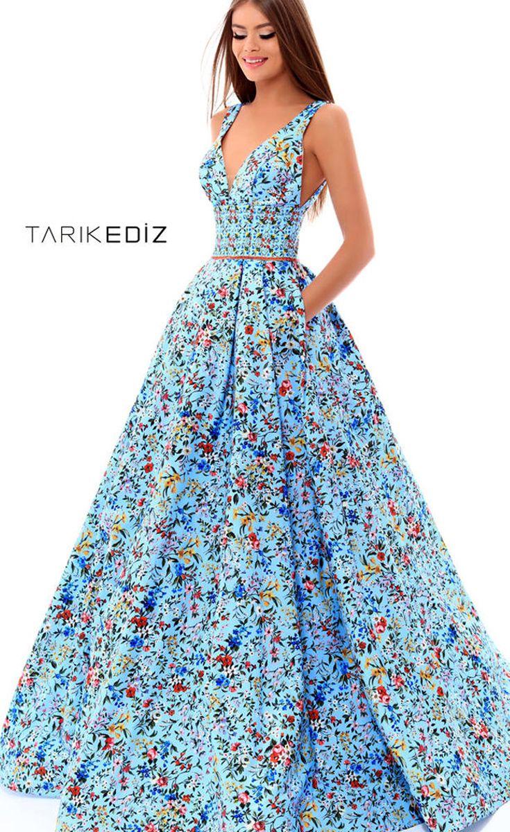 Бирюзовое выпускное платье Tarik Ediz 50287  Glamorous2018promdresses   formaleveninggowns a6f5e96117cf