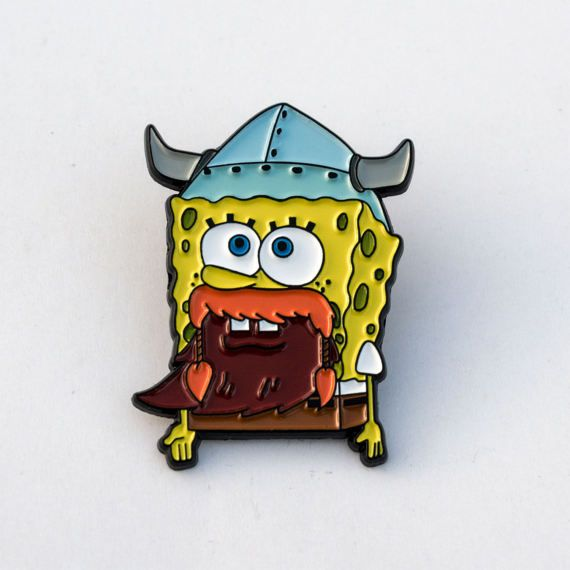 Leif Erikson Pin Spongebob pin by PulpFreePins on Etsy