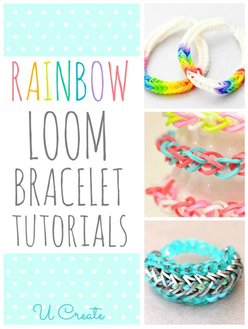 Lots of Rainbow Loom Bracelet Tutorials in one place! These would be perfect for gifts… SO CUTE!