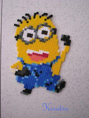 """Kirutsu Hama Beads :): ¡Minion de """"Gru, mi villano favorito""""! :D"""