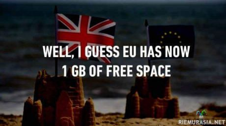 Great Britain leaving EU.