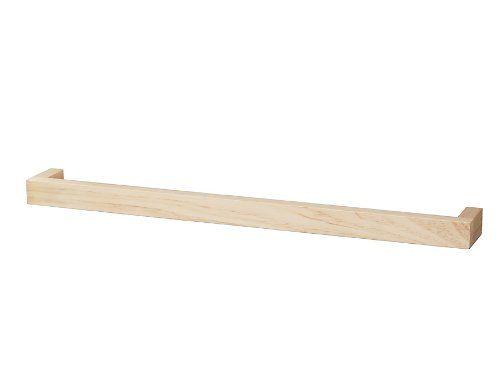 Haceka 1127068 - Porta asciugamani da parete, in legno certificato FSC, 60 cm, colore naturale