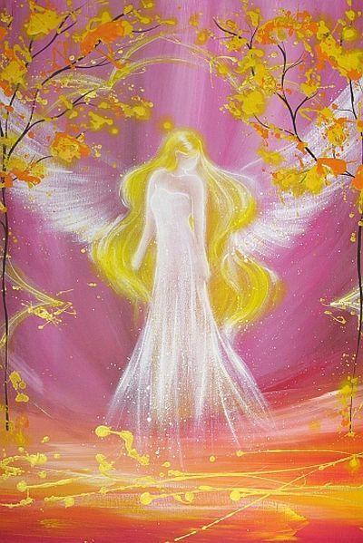 Limited angel art photo, modern angel painting, artwork, acrylics, print, glossy photo,
