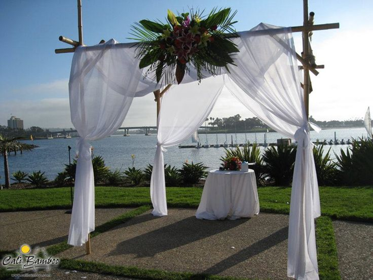 diy bamboo wedding arbor made with cali bamboo poles - Bamboo Canopy 2015