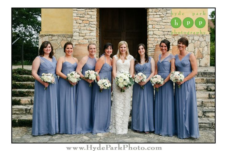 Love these lavender bridesmaid gowns in their varying styles paired with classic white bouquets! Photo by Austin wedding photographers @hydeparkphoto at wedding venue @camplucy. See more of this lovely day at http://www.hydeparkphoto.com/camp-lucy-wedding-2/ || Austin weddings, Austin wedding photographers, Texas wedding photographers, wedding ideas, Austin wedding venues, Austin wedding venues outdoors, Camp Lucy, Camp Lucy Austin, Ian's Chapel, destination wedding photographers, Hyde Park…