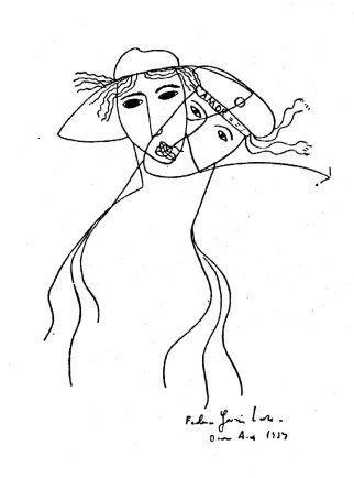 Drawing by Federico García Lorca