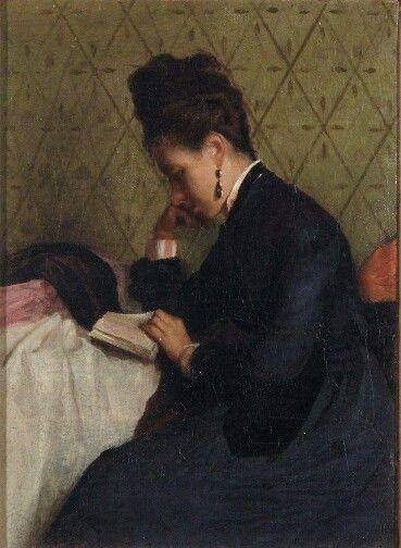 Gioacchino Toma (1836 –1891), La Lettura, Lucca, olio su tela.