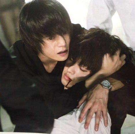 "[Preview, Ep.9 #1/2] https://www.youtube.com/watch?v=2G-zqeRC5Vg Kento Yamazaki, Masataka Kubota, Hinako Sano. J drama series ""Death Note"", [Ep. w/Eng. sub] http://www.dramatv.tv/search.html?keyword=Death+Note+%28Japanese+Drama%29"
